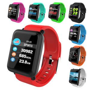 M28 Wasserdicht Smartwatch Fitness Tracker Armband Sport Uhr Pulsuhr Blutdruck