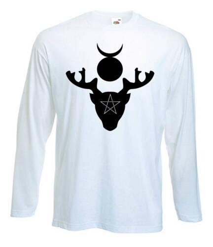 Dieu à cornes T-Shirt-Pagan Wicca Sorcière druide Wiccan-Choix de 4 couleurs
