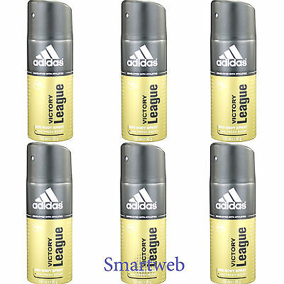 6 x 150ml Adidas Deo Victory League Deospray Herren Deodorant Parfüm Bodyspray | eBay