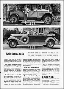 1933 Packard car automobile man owner 1927 Packard vintage photo print ad ads51