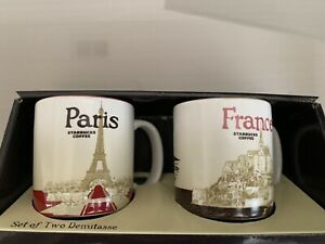 Starbucks Global Icon Paris & France 3-oz Set of 2 Mini Mug / Demitasse
