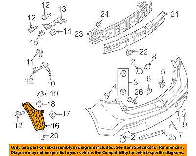 MAZDA OEM 10-13 3 Rear Bumper-Splash Shield Fender Liner Right BBN950341A
