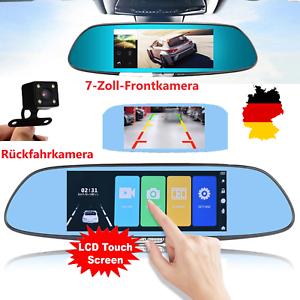 7-034-Dashcam-HD-Dual-Lens-Auto-DVR-Autokamera-Rueckspiegel-1080P-Touch-Screen
