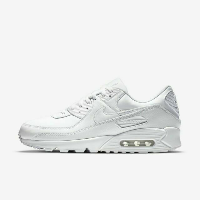 Size 6 - Nike Air Max 90 LTR Triple White 2020 for sale online | eBay