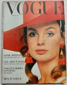 1967 British Fashion VOGUE 60s vintage fashion Bailey Jean Shrimpton March