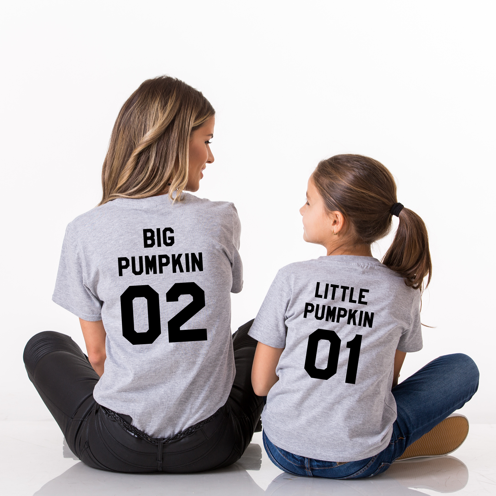 5cf65d342e6f8 Thanksgiving Mommy Daddy Baby Pumpkin Shirts Matching Holiday Parent Kid Set