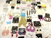 Lot Of 40 Pairs Of Earrings From Hot Topic Target Mandees Banana Republic ++