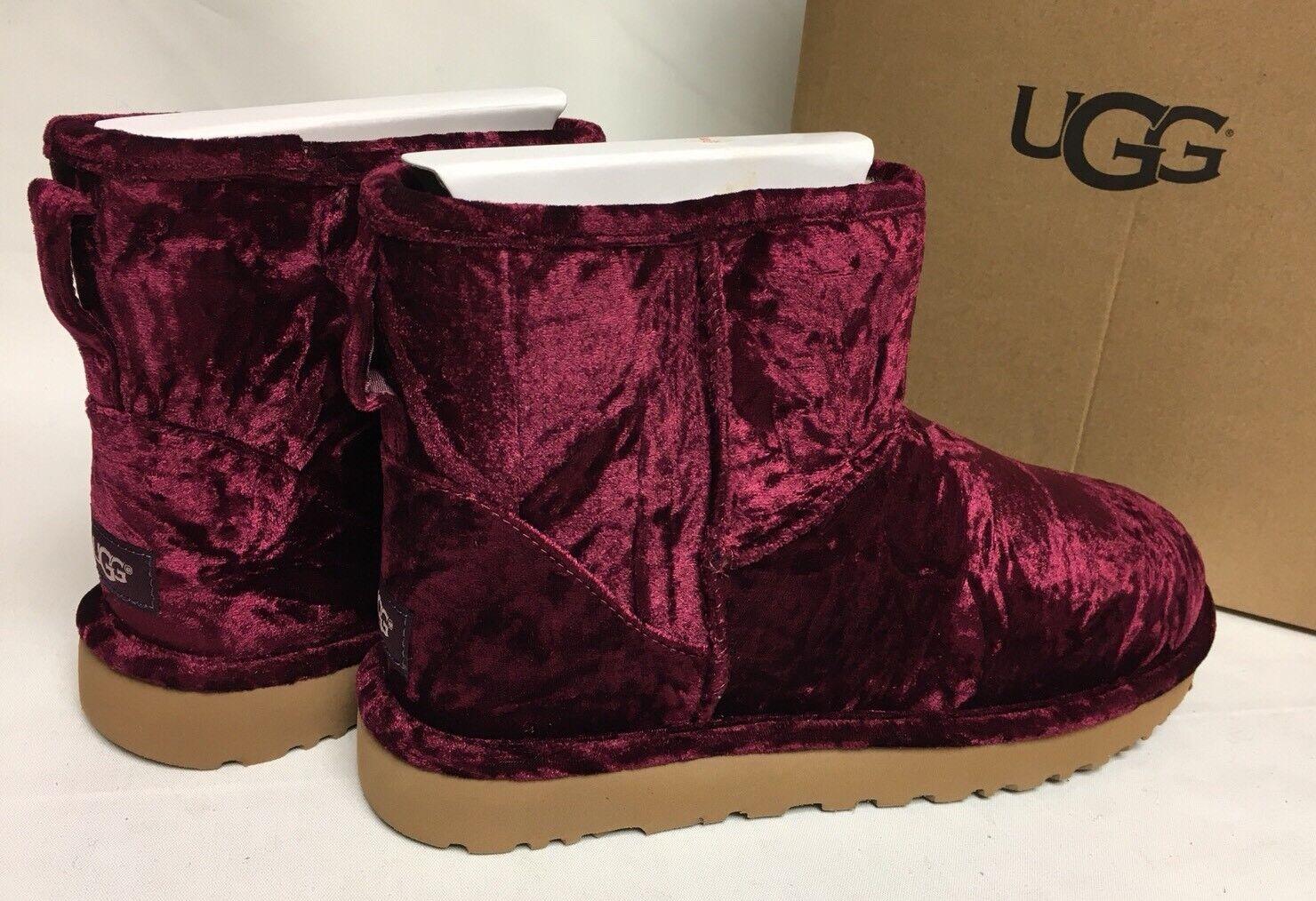 acabd1f6636 UGG Australia Crushed Velvet Classic Mini Boot Fig 1090871 Women's Sheepskin