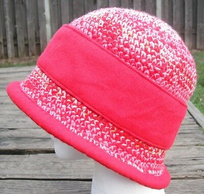 Distinct Red Mix Medium Size Crocheted Cloche - Handmade by Michaela