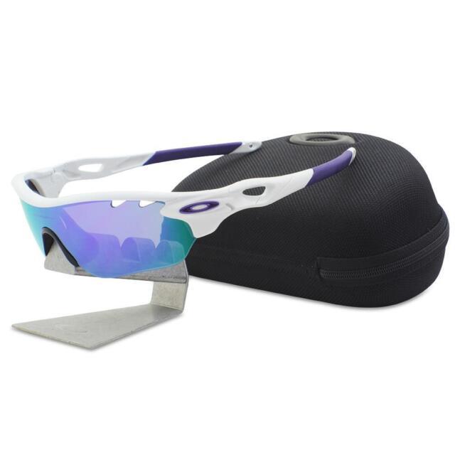 70962115f84 Oakley OO 9183-06 RADARLOCK EDGE White Violet VR28 Womens Sport Sunglasses