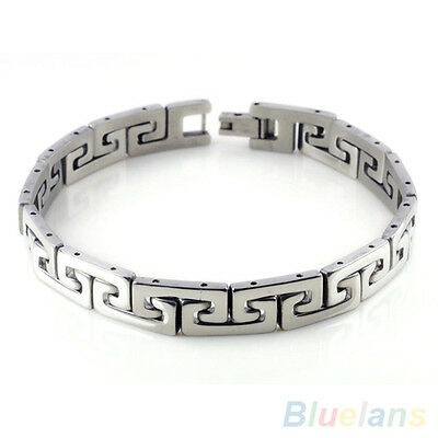 GRACEFUL MEN'S COOL STAINLESS STEEL CHAIN WRISTBAND CLASP CUFF BANGLE BRACELET