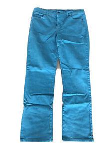 Bandolinoblu Turquoise Blue Bandolino Blu Slim Fit Womens Denim Jeans Size 12