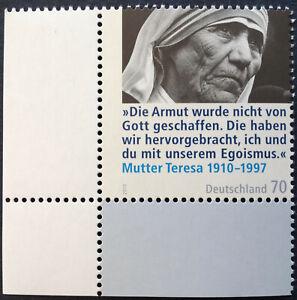 BRD-2010-1-Marke-Eckrand-LU-100-Geburtstag-Mutter-Theresa-MiNr-2813