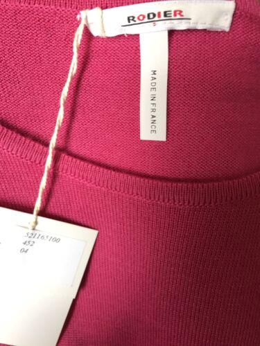 Taglia corta Nwt Sweater Rodier Manica 42 Pink Womens 1OxR1wqHt