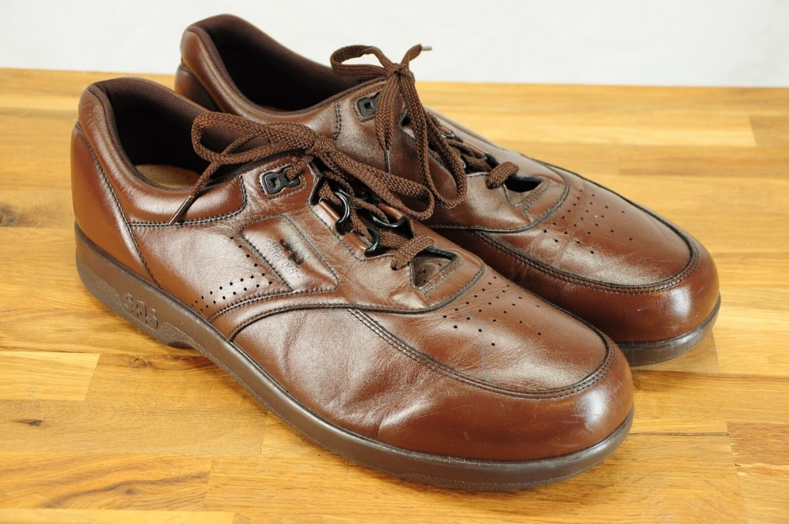 Scarpe casual da uomo  NEW SAS Time Out Tripad Comfort Diabetic Approved Brown Leather Walking Shoe 14S