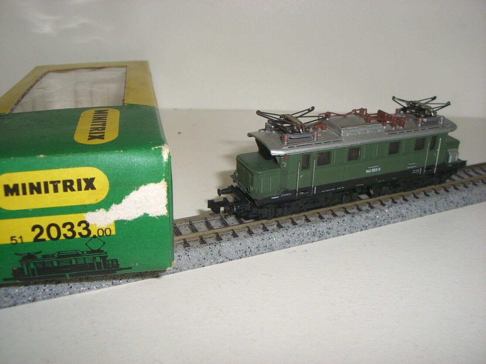 MINITRIX N locomotora eléctrica 2033