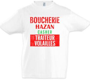 Boucherie-Hazan-Sign-Kinder-Jungen-T-Shirt-Joint-Symbol-Venture-Logo-Metzger