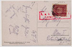 Galizien Karte.Details Zu österreich 1917 10h Karte Lemberg Galizien Nach Wien Zensuriert