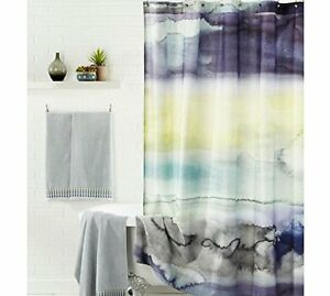 Image Is Loading Blue Bell Gray Morar Fabric SHOWER CURTAIN