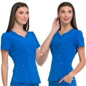 Heartsoul-Ropa-Quirurgica-Set-Mujer-Cuello-en-V-Top-amp-Talle-bajo-Cordon-Pantalon