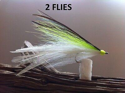 DECEIVER//CLOUSER FLY 2 FLIES #1//0 Mustad 34007,redfish,snook,tarpon,striper,pike