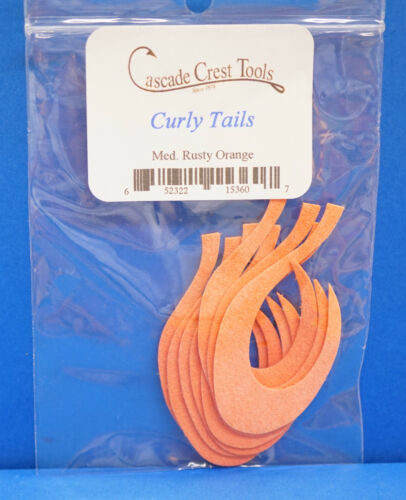 Curly Tails 4 Farben Auswahl Größe MEDIUM 8 St 5 x 3 cm Wiggle Tail ca