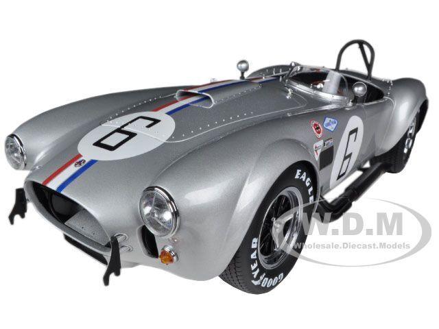 Shelby Cobra 427 Sc  6 Plata 1:12 Diecast Car Model por Kyosho, 08632