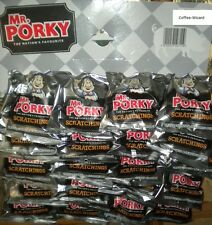 MR PORKY PORK SCRATCHINGS 20 PACK ON PUB CARD SNACKS SEASONED PORK RIND FREE P&P
