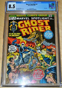 Marvel Spotlight #9 CGC 8.5 (Ghost Rider) (OFF-WHITE TO WHITE PAGES) CLASSIC!!!!