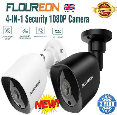 Analog CCTV Bullet Security Camera  4in1 1080P  2MP Outdoor Night Vision 5 Pack