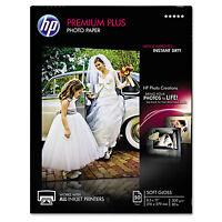 Hp Premium Plus Photo Paper, 80 Lbs., Soft-gloss, 8-1/2 X 11, 50 Sheets/pack on sale