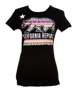 Womens-California-Republic-Tribal-Bear-Short-Sleeve-T-Shirt