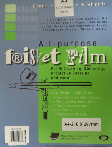 Grafix All-Purpose Frisket Film A4 6 Sheets