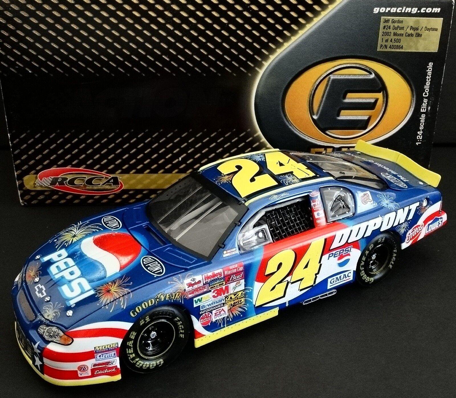Jeff Gordon  24 Dupont  Pepsi 1 24 Elite 2002 Daytona Monte Carlo 878 4500