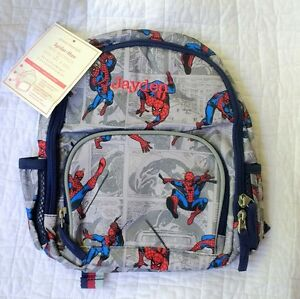 New Pottery Barn Kids mini SPIDERMAN boys PRE-K backpack monogram ...
