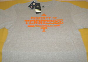 Property-of-Tennessee-Volunteers-University-Vols-Gray-Adidas-T-Shirt-New-NWT-LG