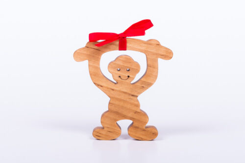 Symbol for 2016 Year Wooden Monkey Teething Toy for Baby