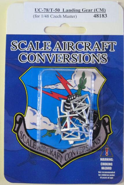 UC-78//T-50 Bobcat Landing Gear 1//48th  Scale for Czech Model SAC 48183