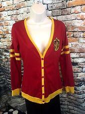 Harry Potter GRYFFINDOR Juniors Size Medium Knit Cardigan Maroon Warner Bros