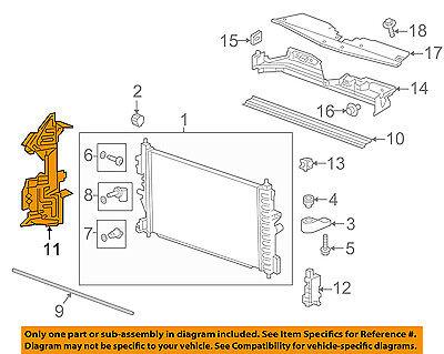 Chevrolet GM OEM 16-18 Cruze 1.4L-L4 Radiator-Side Air Baffle Left 13404731