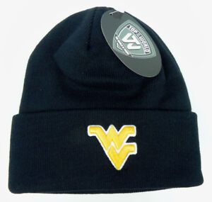 WEST-VIRGINIA-MOUNTAINEERS-NAVY-NCAA-BEANIE-TOP-OF-THE-WORLD-KNIT-CAP-HAT-NWT