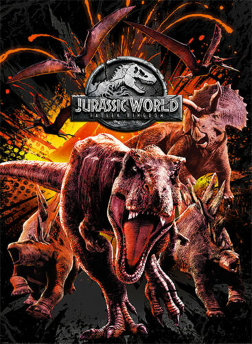 Official Jurassic World Fallen Kingdom Montage Maxi Poster 91.5 x 61cm Wall Art