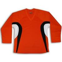 Orange Customized Hockey Jersey W/name & Number Dry Fit Edge Inspired