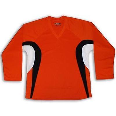 Orange Hockey Jersey w//Name /& Number  DRY FIT EDGE Inspired Orange//Black//White
