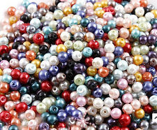 500X Multicolor Charm Round Pearl Imitation Acrylic Beads 4mm for DIY nail art