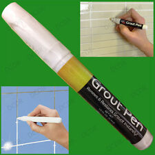 White Grout Pen Tile Revive Repair Renew Restore Kitchen Bath Shower Anti-Mould