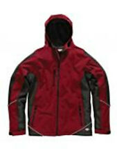 MENS DICKIES TWO TONE SOFTSHELL HOODED JACKET RED/BLACK SIZE LARGE BNWT