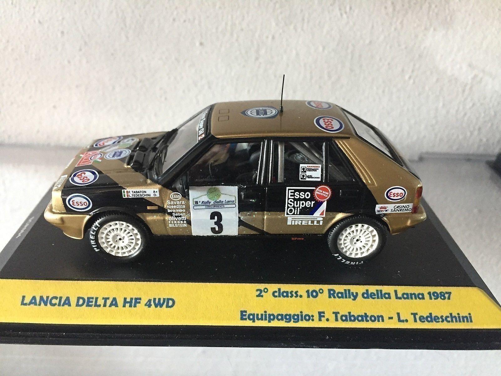 145 Lancia Delta 4WD  3 2° cl. 10° 10° 10° Rally dlla Lana 1987 Tabaton - IXO M. 1 43 4cd5df