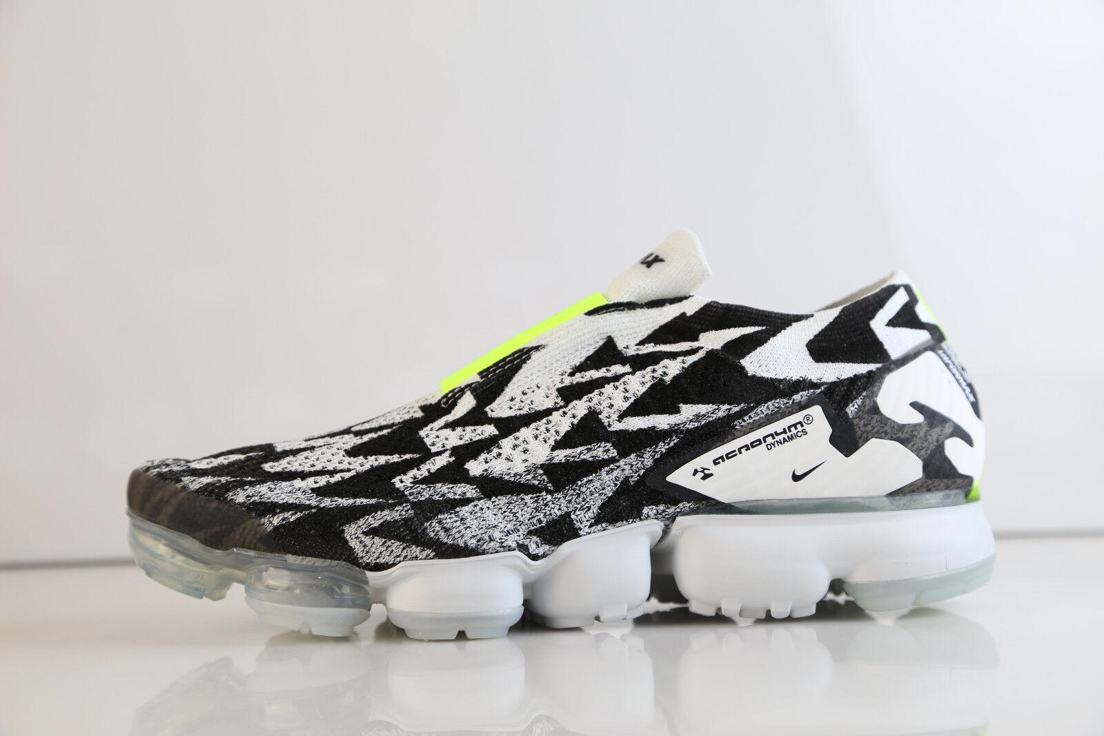 Nike Lab Air VaporMax Moc 2 Acronym Black Light Bone AQ0996-001 7.5-13 vapor max
