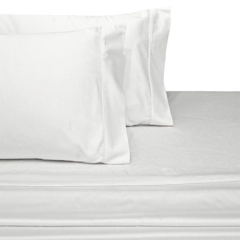 Queen Größe 100% Pure cotton Sateen Sheet Sets 300 Thread Count-Farbe Weiß